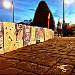 Luminaria line the walkways of Depot Square; each light celebrates the life of a cancer victim, patient, or survivor.