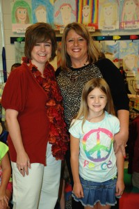 Karen Bartlett, Lori Tooker, and Macy Bartlett, 2nd Grade