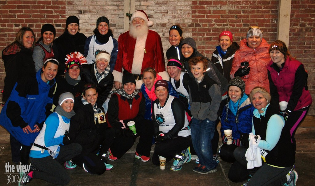 Runners with Santa