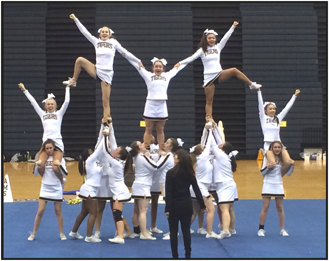 AHS JV Cheer perform for family and friends at Show Night on February 4