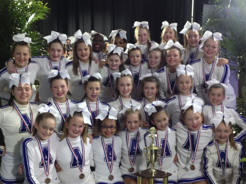 AMS Cheerleaders with UCA Nationals Bronze Medals