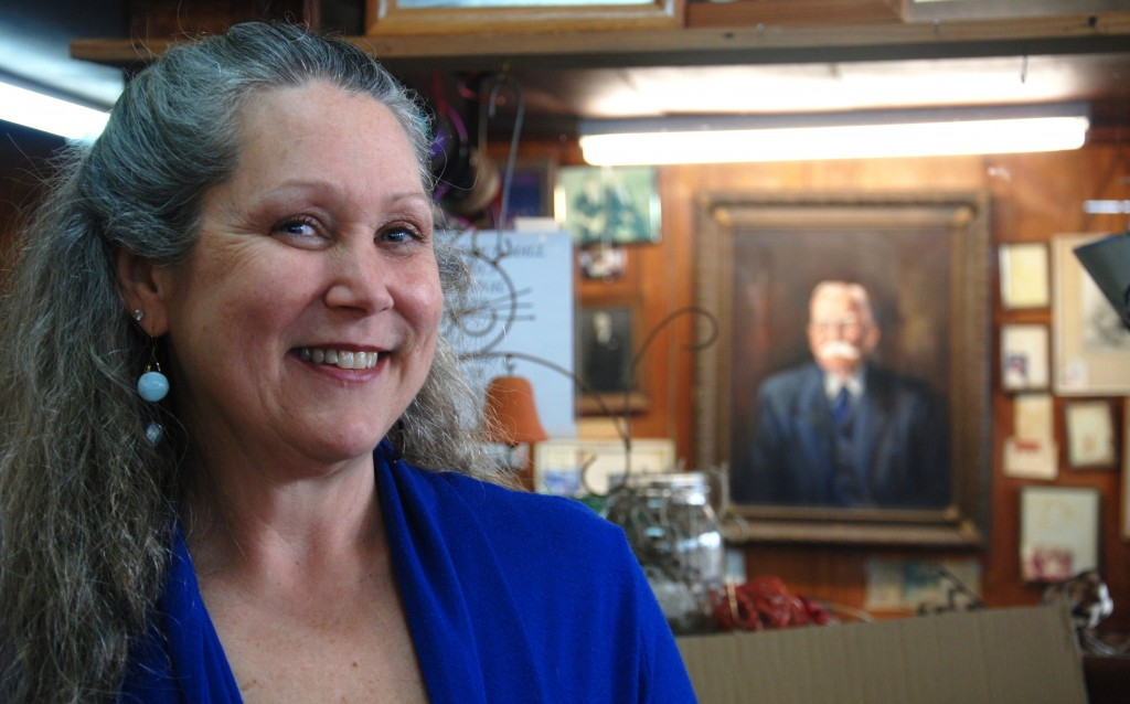 Susan Wilson Hoggard is the fourth-generation of her family to own the business located in Depot Square. A portrait of her great-grandfather and store's namesake hangs in her office.