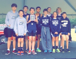 Arlington Middle School Boys Cross County Team--Second Place West Tennessee MS Cross Country Championships.