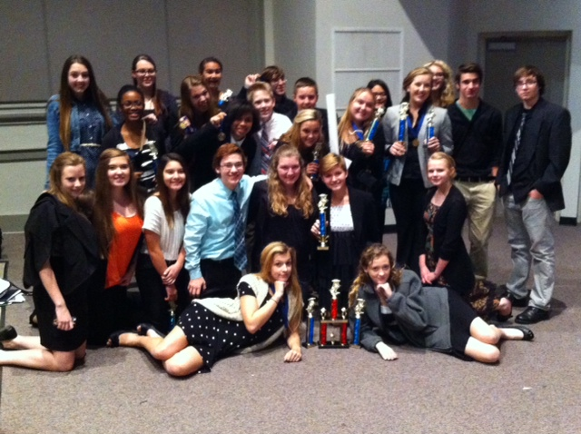 Arlington HS Speech Team. Photo courtesy of AHS Speech.