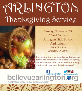 Community Thanksgiving Service @ Arlington High School