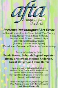 Arlington for the Arts Art Show, Sale and Wine Tasting @ Formerly Jackson's on the Square | Arlington | Tennessee | United States