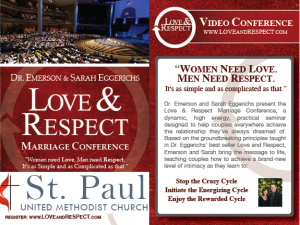 Love and Respect - Memphis Area Video Conference @ St. Paul UMC - Lakeland | Lakeland | Tennessee | United States