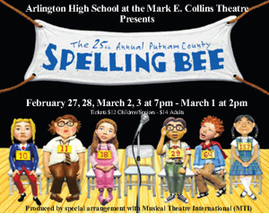 25th Annual Putnam County Spelling Bee (AHS Spring Musical) @ Arlington High School | Arlington | Tennessee | United States